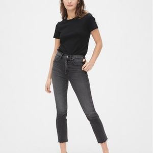 High Rise Cigarette Jeans with Smoothing Pockets